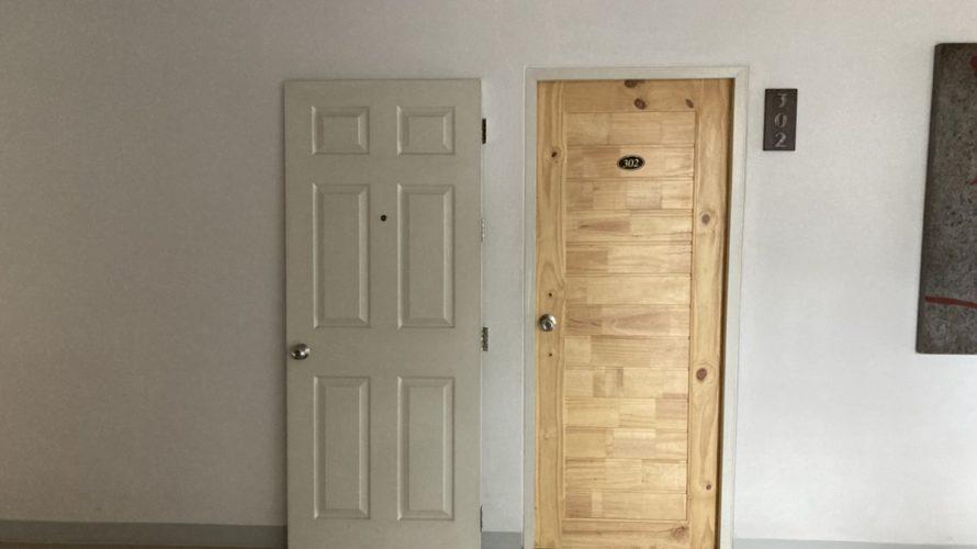ドア取り替え作業